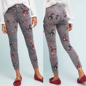 NWT Pilcro Letterpress Floral High Rise Skinny 25
